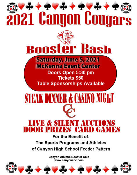 Canyon ABC Booster Bash | Make Plans for January 2019