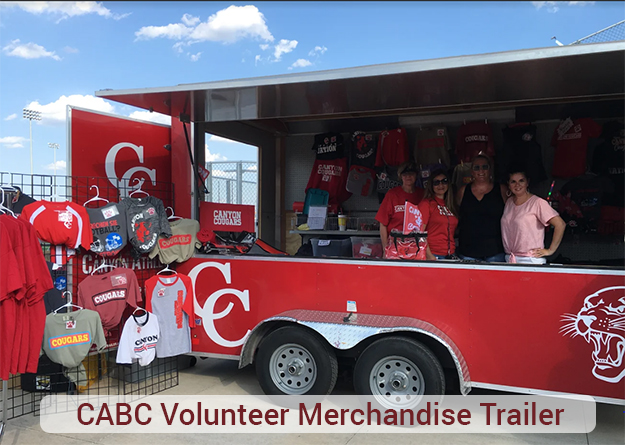 Jelp your Canyon ABC in the Merchandise Trailer and show your parent spirit.
